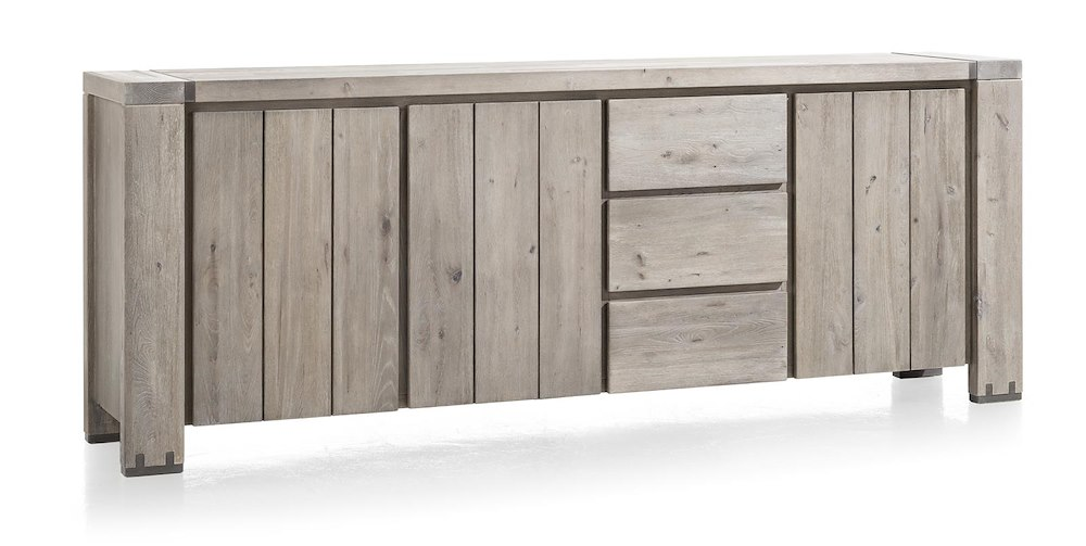 avola sideboard 3 tueren 3 laden 240 cm. Black Bedroom Furniture Sets. Home Design Ideas