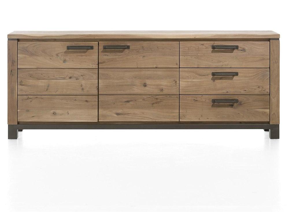 falster sideboard 2 t ren 3 laden 220 cm henders hazel. Black Bedroom Furniture Sets. Home Design Ideas