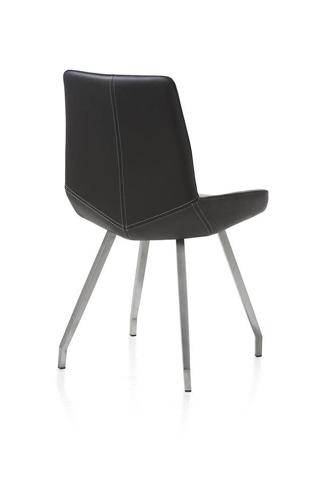 levi stuhl 4 f sse edelstahl gebogen catania leder henders hazel. Black Bedroom Furniture Sets. Home Design Ideas