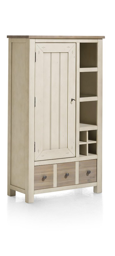 le port schrank 1 tuer 1 lade 3 nischen 4 weinfaecher led. Black Bedroom Furniture Sets. Home Design Ideas