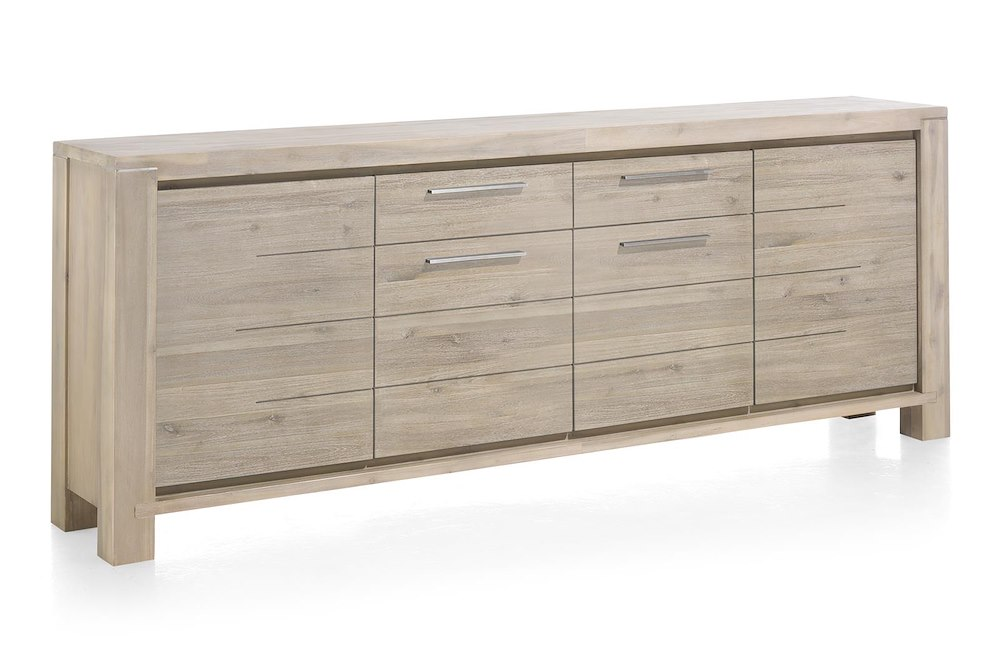 multiplus sideboard 4 t ren 1 laden 240 cm henders hazel. Black Bedroom Furniture Sets. Home Design Ideas