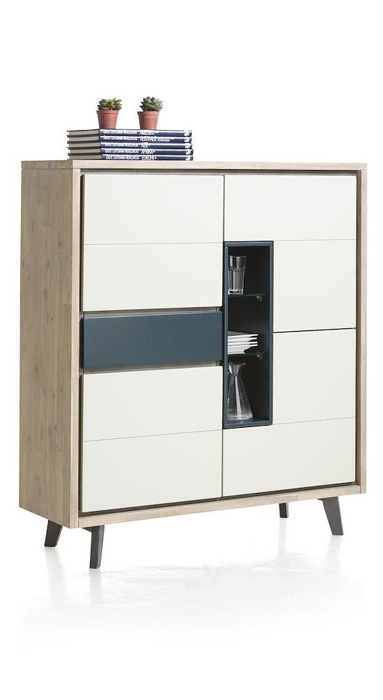 jade highboard 4 t ren 1 lade 3 nischen led. Black Bedroom Furniture Sets. Home Design Ideas