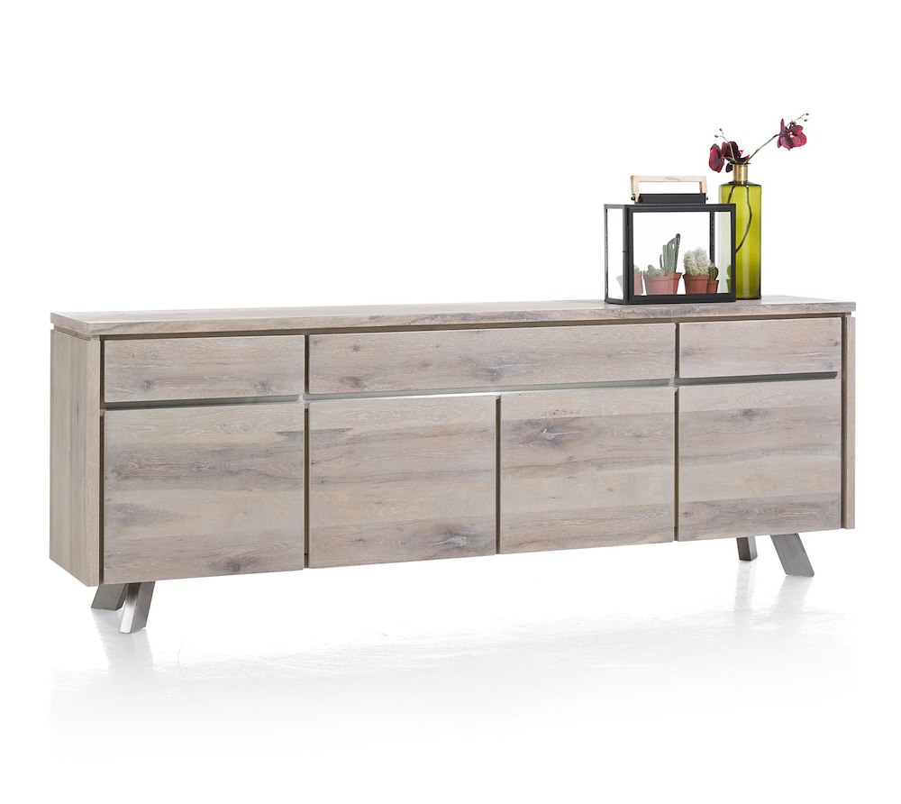 ermont sideboard 4 t ren 3 laden 240 cm henders hazel. Black Bedroom Furniture Sets. Home Design Ideas