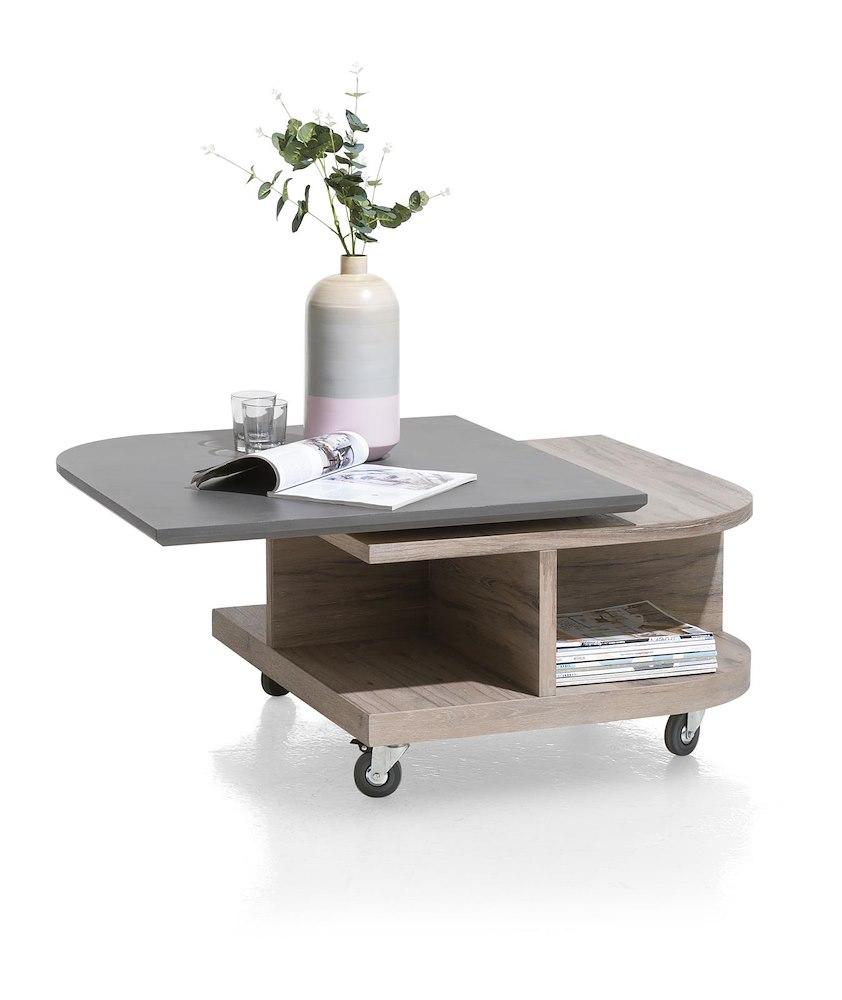 eivissa couchtisch 80 x 80 cm 4 nischen drehbare deckplatte henders hazel. Black Bedroom Furniture Sets. Home Design Ideas