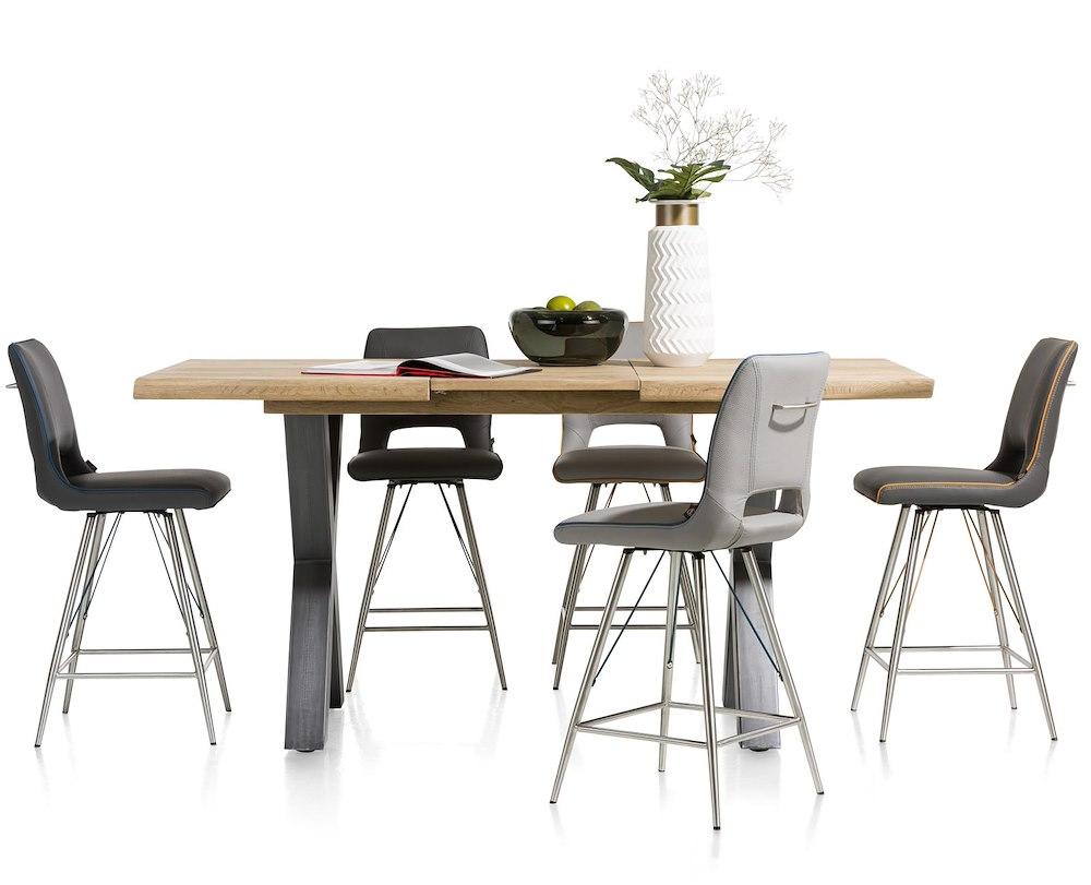 metalox tresentisch ausziehbar 140 x 90 cm 50 cm hoehe 92 cm. Black Bedroom Furniture Sets. Home Design Ideas