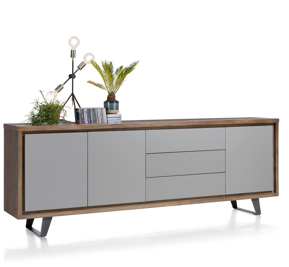 box sideboard 3 t ren 3 laden 240 cm henders hazel. Black Bedroom Furniture Sets. Home Design Ideas