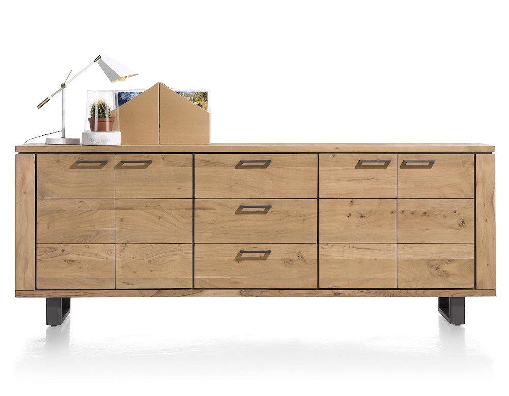 quebec sideboard 4 t ren 3 laden 240 cm henders hazel. Black Bedroom Furniture Sets. Home Design Ideas