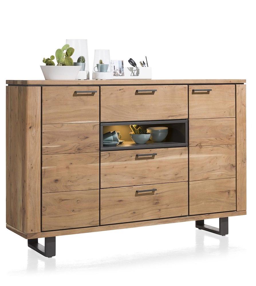 quebec schrank 2 tueren 3 laden 1 nische 180 cm led. Black Bedroom Furniture Sets. Home Design Ideas
