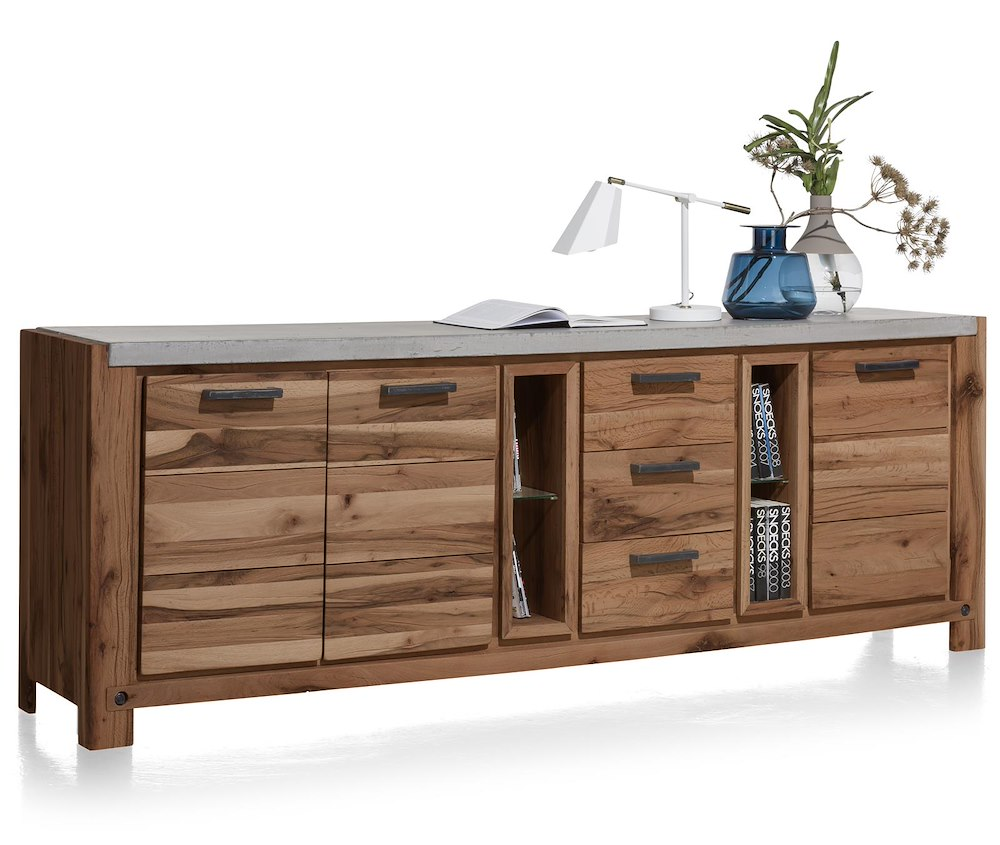 maitre sideboard 3 tueren 3 laden 2 nischen 240 cm. Black Bedroom Furniture Sets. Home Design Ideas