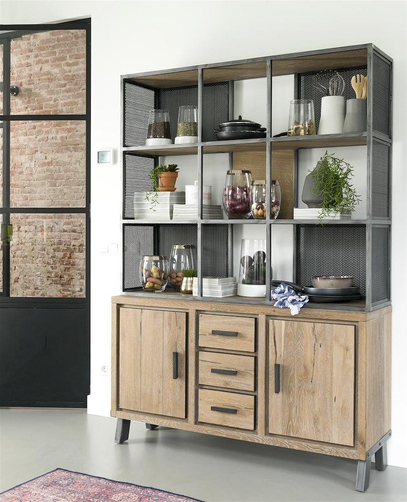 vitoria sideboard oberteil 2 tueren 3 laden 9 nischen 140 cm. Black Bedroom Furniture Sets. Home Design Ideas