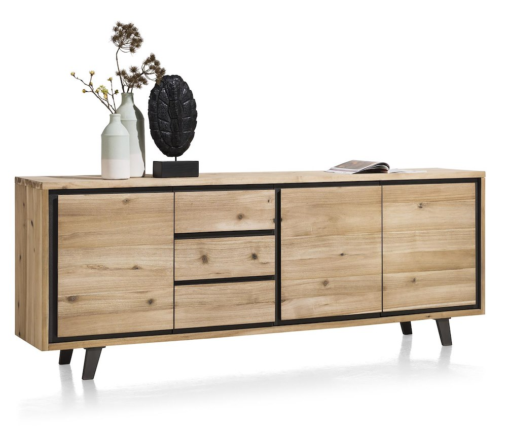 prato sideboard 3 tueren 3 laden 240 cm. Black Bedroom Furniture Sets. Home Design Ideas