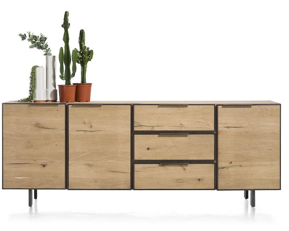 pedro sideboard 240 cm 3 tueren 3 laden. Black Bedroom Furniture Sets. Home Design Ideas