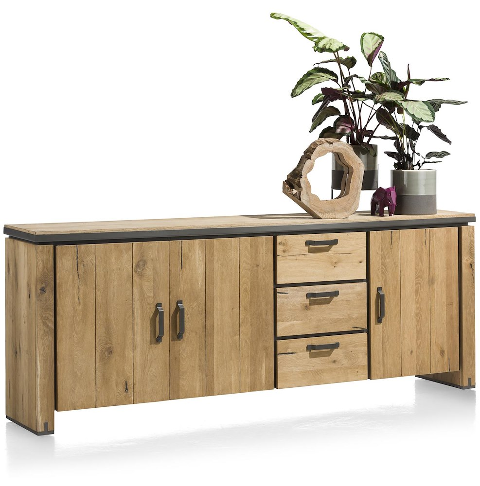 farmland sideboard 3 tueren 3 laden 240 cm. Black Bedroom Furniture Sets. Home Design Ideas