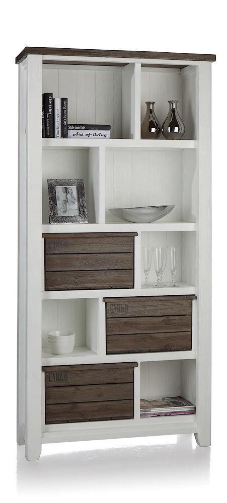 velasco buecherregal gross 3 korben 7 nischen. Black Bedroom Furniture Sets. Home Design Ideas