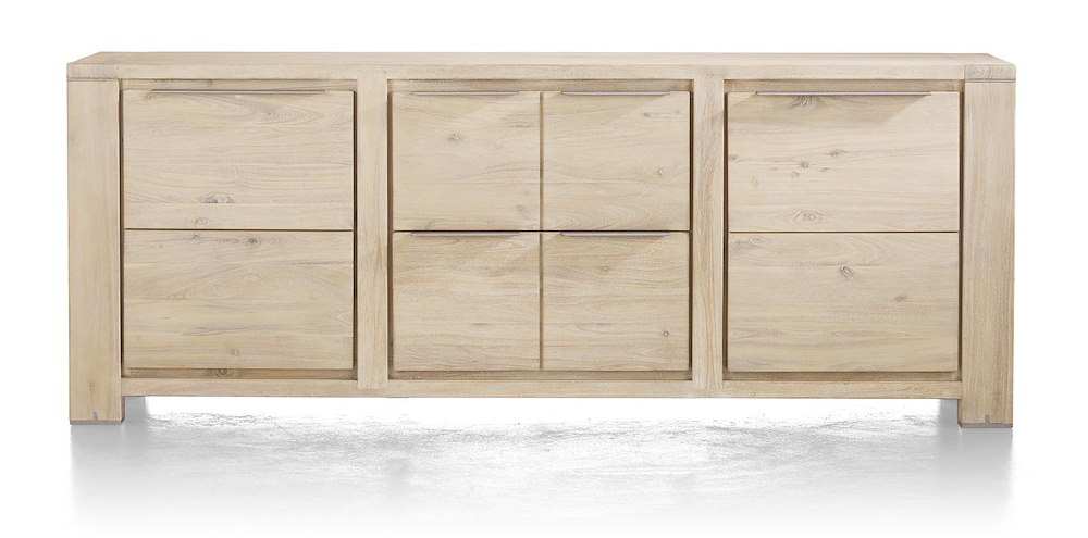 buckley sideboard 2 tueren 2 laden 220 cm. Black Bedroom Furniture Sets. Home Design Ideas