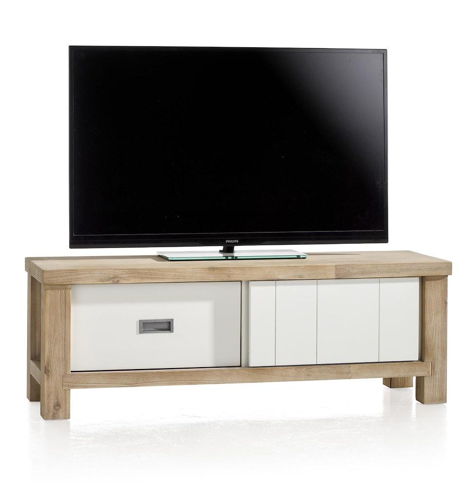 Tv schrank mit schiebetüren  Istrana, TV-Sideboard 1-Schiebetür + 1-Lade - 130 cm