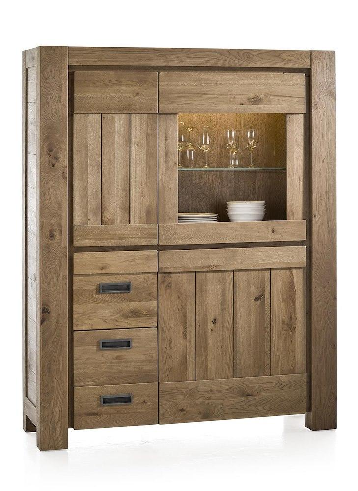 santorini schrank mit einer glast r und led leiste henders hazel. Black Bedroom Furniture Sets. Home Design Ideas