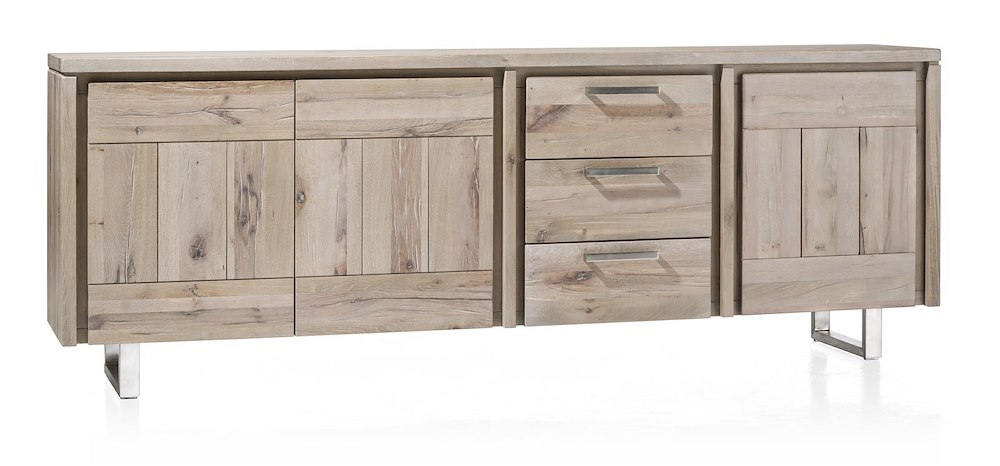 more sideboard 3 tueren 3 laden 240 cm edelstahl. Black Bedroom Furniture Sets. Home Design Ideas