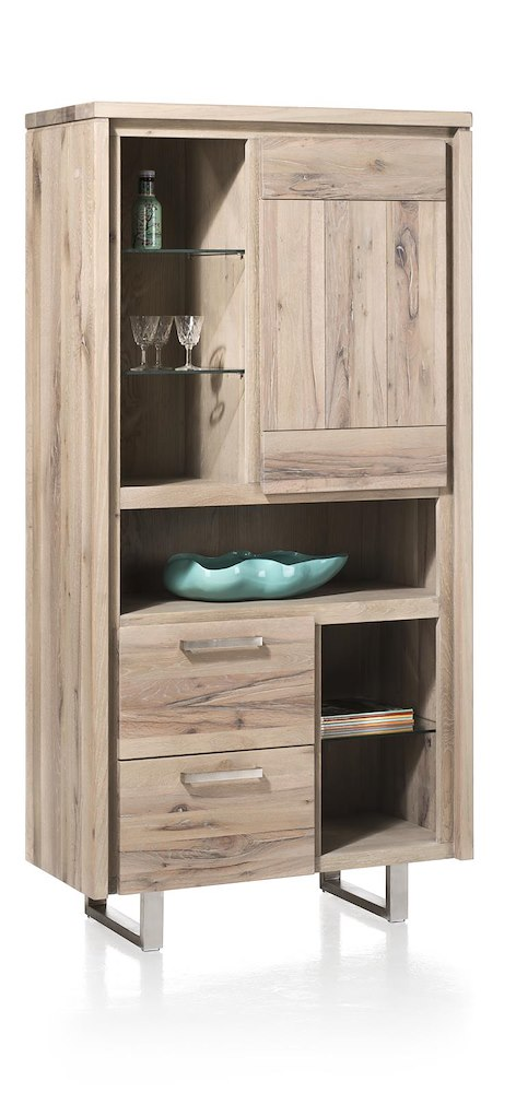 more schrank 1 tuer 2 laden 6 nischen edelstahl. Black Bedroom Furniture Sets. Home Design Ideas