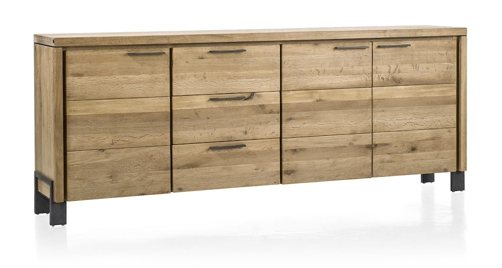 modrava sideboard 3 tueren 3 laden 220 cm. Black Bedroom Furniture Sets. Home Design Ideas