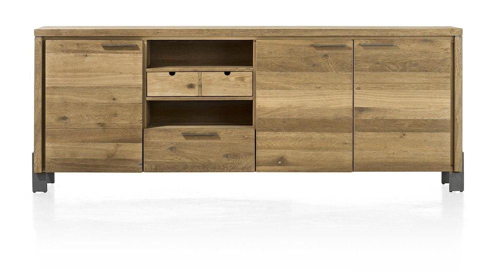 modrava sideboard mit 3 t ren und einer lade 220 cm henders hazel. Black Bedroom Furniture Sets. Home Design Ideas
