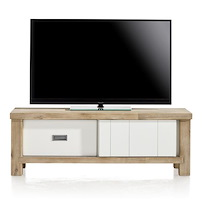Istrana, Tv-sideboard 1-schiebetuer + 1-lade - 130 Cm