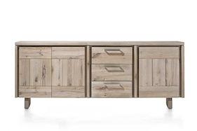 More, Sideboard 3-tueren + 3-laden 220 Cm - Holz