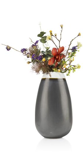Vase Bretagne - Large - Hoehe 39,5 Cm - Glasur Mit Schwarz