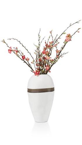 Vase Cerro - Hoehe 40 Cm - Weiss