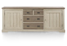 Le Port, Sideboard 220 Cm - 2-tueren + 3-laden + 1-tablett