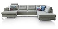 Hill, Longchair + 3-sitzer + Ottomane Rechts