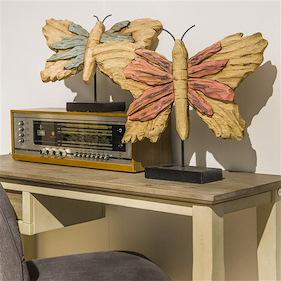 Objekt Butterfly Small - Blau