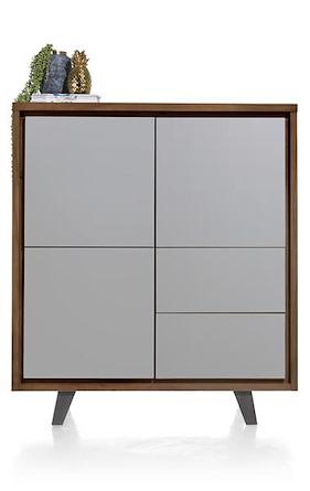 Box, Schrank 125 Cm - 3-tueren + 2-laden