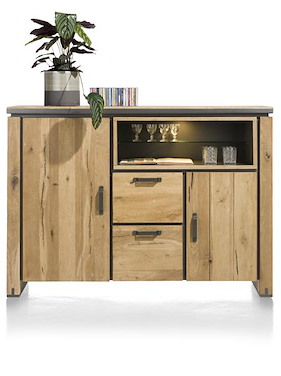 Farmland, Highboard 170 Cm - 2-tueren + 2-laden + 2-nischen (+ Led)