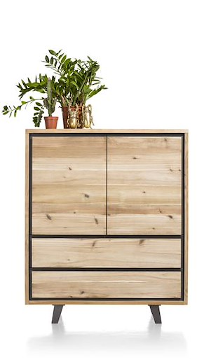Prato, Highboard 2-tueren + 2-laden - 120 Cm