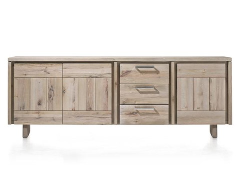 more sideboard 3 t ren 3 laden 240 cm holz henders hazel. Black Bedroom Furniture Sets. Home Design Ideas