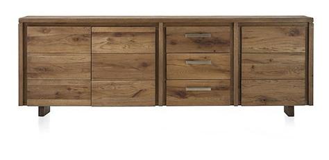 Masters, Sideboard 3-Tueren + 3-Laden - 240 cm - Holz