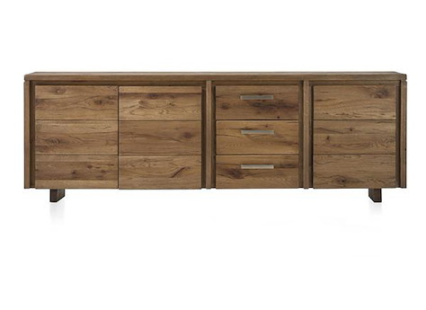 masters sideboard 3 tueren 3 laden 240 cm holz. Black Bedroom Furniture Sets. Home Design Ideas