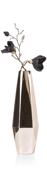 Vase Halmar - medium - Hoehe 48 cm - Kupper farbig-1