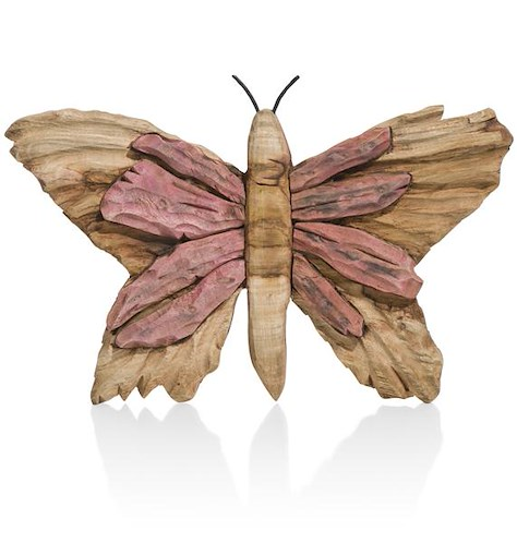 Wanddeko Butterfly small - Rosa