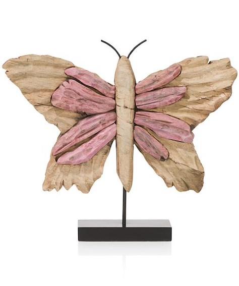 Objekt Butterfly large - Rosa