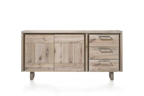 More, Sideboard 180 cm - 2-Tueren + 3-Laden - Holz