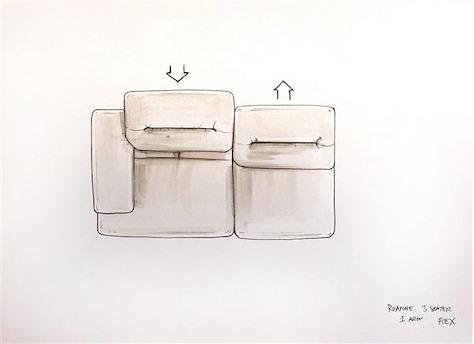Roanne, 3-Sitzer Armlehne links - verstellbar-1