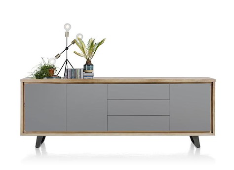 box sideboard 3 tueren 3 laden 240 cm. Black Bedroom Furniture Sets. Home Design Ideas