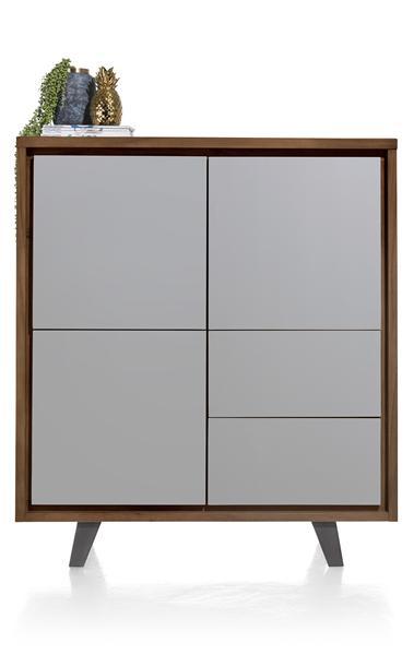 Box, Schrank 3-Tueren + 2-Laden - 125 cm