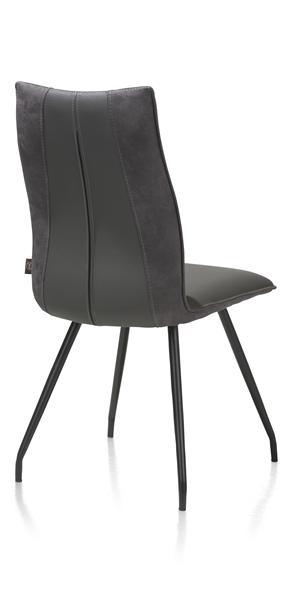 Gabino, Stuhl - 4 schwarzen Fuessen - Kombination Tatra / Calabria