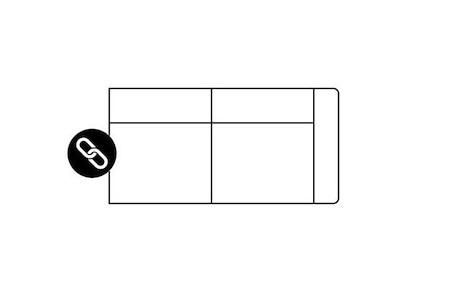 Zembla, 2,5-Sitzer + Armlehne rechts