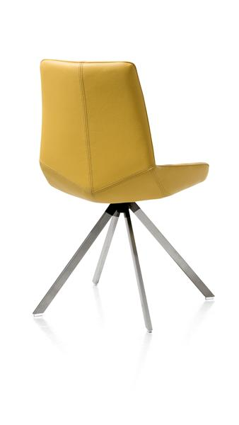 Levi, Stuhl - 4 Fuesse Edelstahl gerade - Catania Leder