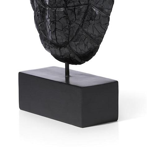 Objekt Wooden Shield - charcoal