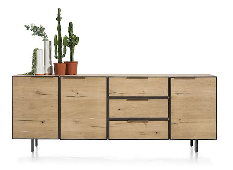 pedro sideboard 3 tueren 3 laden 240 cm. Black Bedroom Furniture Sets. Home Design Ideas